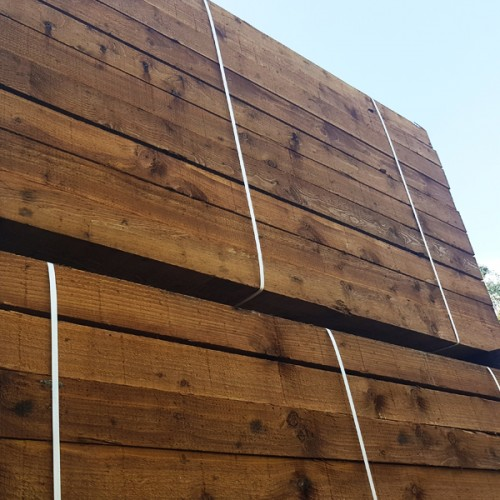 New Brown Softwood Sleepers (35pcs) 2400 x 200 x 100